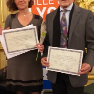 Médaillés ACL8 Sylvie et Paul